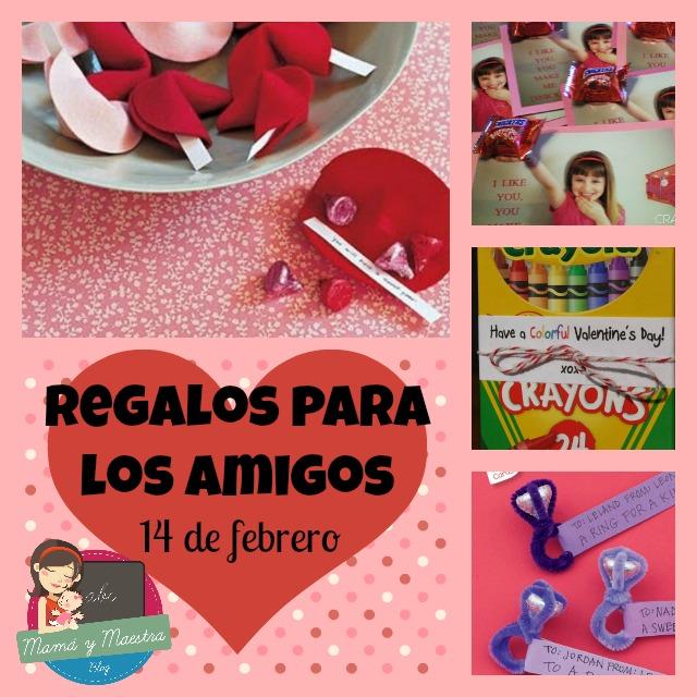 Manualidades para niños regalos para amigos 14 de febrero , Mamá y maestra