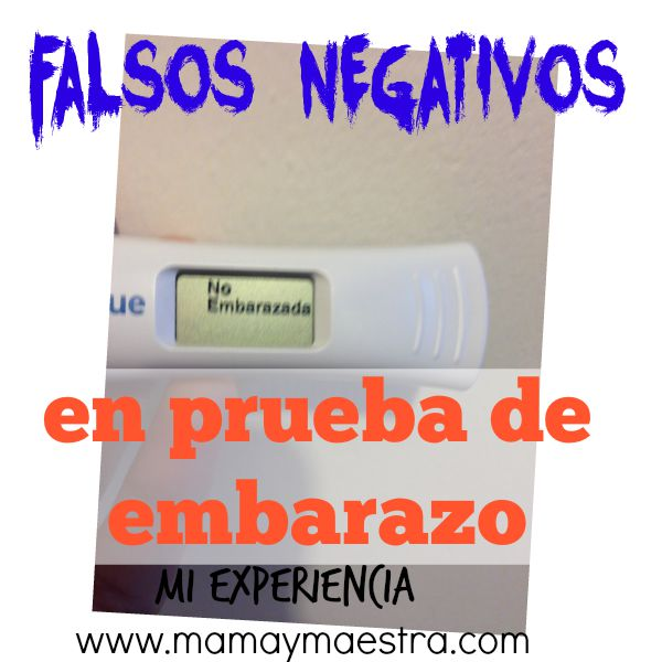 Falsos negativos en las pruebas de embarazo, mi